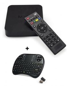 Combo MXQ 4K - Android TV Box 1GB/8GB with Wireless Touchpad Keyboard - Black