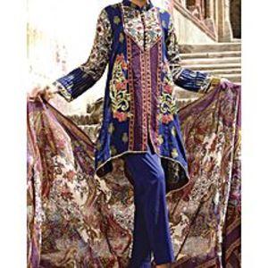 AlmirahMehroon LAWN 3pcs Unstitched Suit for Women