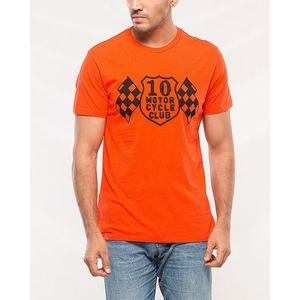 Denizen Orange Cotton T-shirt for Men