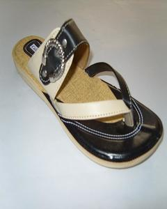 Casual Rexine Chappal For Women - Black