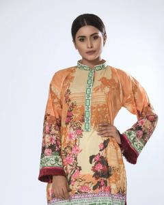 Copper Lawn Digital Unstitched Tunic - Maira Ahsan Collection 2018 Vol 10  ZS-06
