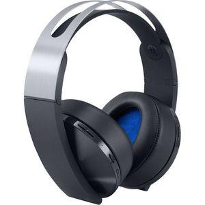 Sony PlayStation 4 - Platinum Wireless Headset - Black & Silver