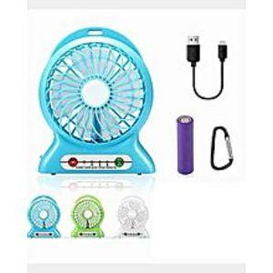 Deals2 in 1 Rechargeable Portable Mini Power Bank + Fan