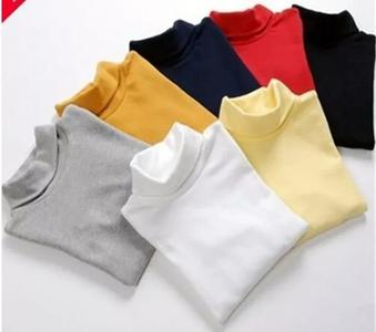Pack of 2 Full Sleeves High Neck T-Shirt For Girls & Boys Multicolour Winter Sweat Shirts