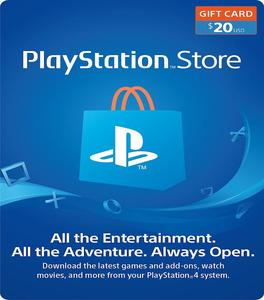 $20 PlayStation Store Gift Card (printed on paper)