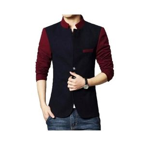 Contrast Coat Black & Red