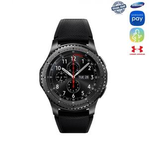 Official Samsung Gear S3 Frontier Smartwatch - Sporty Plus Formal Look - Model Gear S3 - AMOLED 1.3inch Screen - Bluetooth v4.2 - Round Stainless Steel Dial - Android & iOS Compatible