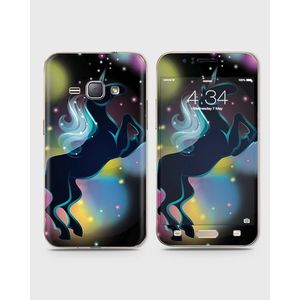 Samsung Galaxy J1 2015 (J100) Skin Wrap With Front Back And Sides Space Einhorn-1Wall564