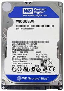"""WD 500GB 2.5"""" SATA Hard Drive Western Digital"""