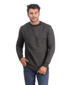 Charcoal Fleece Sweatshirt For Men