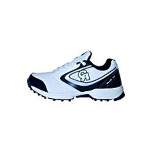 CA Sports White PU Cricket Shoes For Men