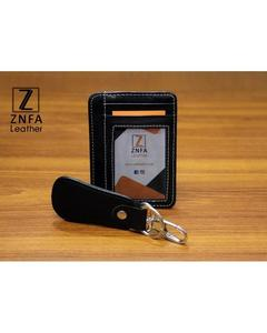 Pack Of 2 - Window Slim Fit Card Holder & Key Chain - Black