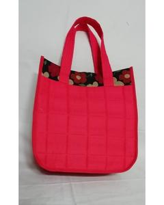 Ladies Cotton Handbags - Red