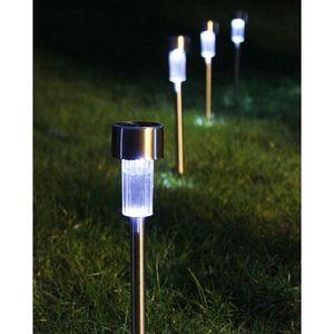 Vintage Black Finish High Plastic Waterproof Solar Powered LED Pathway Lighting-Pack of 2