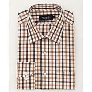Bonanza SatrangiBrown Pc Men's Smart Shirt