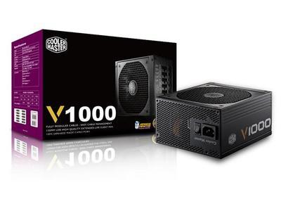 Cooler Master V1000 - Fully Modular 1000W 80 PLUS Gold PSU with Silencio FP Silent 135mm fan