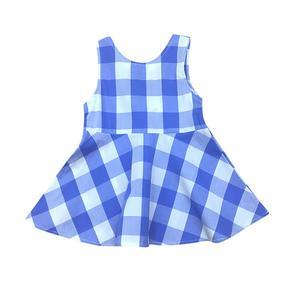 Toddler Kids Baby Girls Summer Plaid Dress Sleeveless Sundress Clothes