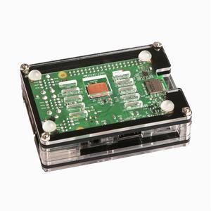 Intelligence  3-in-1 9 Layers Acrylic Case + Dual Fan + Copper Heatsink Kit For Raspberry Pi 3 Model B