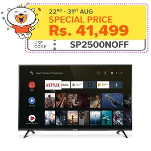 "TCL A3 40"" Smart Androidâ""¢ Full HD LED TV - Black"
