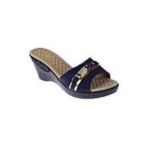 Maya TradersNavy Blue Synthetic Leather Wedge for Women - QQ180