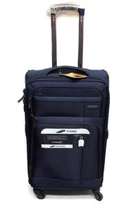 Soft Sided Luggage Travel Bag Trolley Suitcase  4 Wheels Diplomat 24 In.
