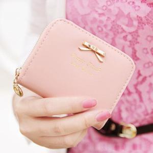 New Fashion Lady Women Leather Wallet Zip Around Wallet Card Holder Handbag