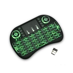SMART GADGETS Mini I8 Wireless Backlit 2.4Ghz Touchpad Keyboard Air Mouse For Tv Box Mini Pc - Black