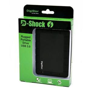 D-Shock Rugged USB 3.0 Portable External Drive - 1TB - Black & Green
