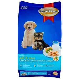 Smart Heart Puppy Dog Food Dry Chicken Egg and Milk, 8 kg