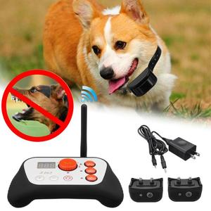 110-240V Electronic Dog Fence System Hidden Electric Collar Wireless Waterproof Black+White