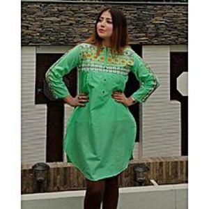 StoreNStoreLolly Pop Embroidered Green Kurti For Women