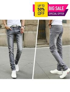 Spring And Summer Men's Denim Pants Slim Fit Stretch Hombre Jeans