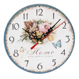 Artistic Creative European Style Round Antique Wooden Home Wall Clock