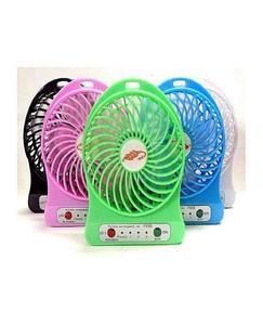Deals 2 in 1 Rechargeable Portable Mini Power Bank & Fan