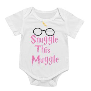 Stonershop Newborn Baby Girl Boy Short Sleeve Letter Print Romper Jumpsuit Outfits Clothes