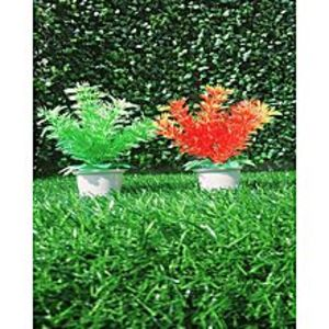 NS CollectionPack of 2 Poaceae Red + Green Artificial Tree