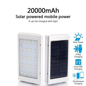Solar Power Bank - 20000mAh with 20 LED lights and long Backup