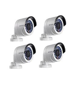 Hikvision Pack of 4 - HD 1MP IR Bullet Cameras - DS-2CE16C0T-IRP