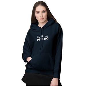 Navy Blue Fleece Hoodie For Women