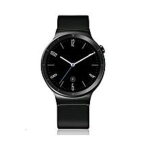 HuaweiOriginal Watch W1 - Stainless Black With Black Leather Strap