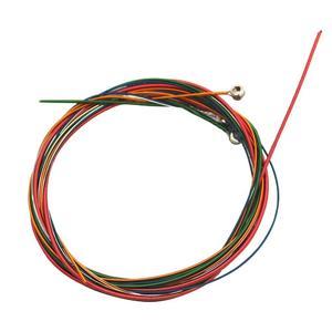 6pcs/set Rainbow Colorful Guitar Strings for Folk Acoustic Guitar Parts