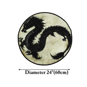 60cm Dragon Printed Round Carpet Living Room Area Rugs Floor Mat