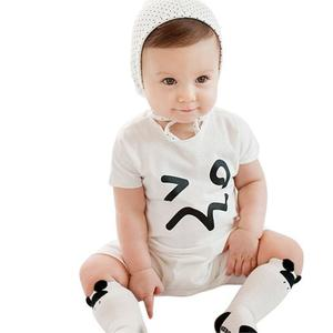 Baby Girls Boys Short Sleeve Expression Briefs Romper Pant Vest Jumpsuits WH/80