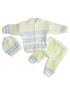 3 Pcs Yellow Collar Sweater Set for Newborn