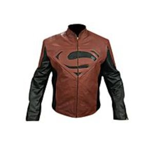 TASHCO Clothing Super Man Black and Brown Leather Jacket