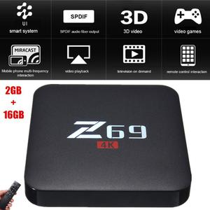 Loveliness Z69 4K HD 3D TV Box Android 6.0 S905X Cortex A53 Processor 2GB+16GB WiFi BT4.0 AU Plug