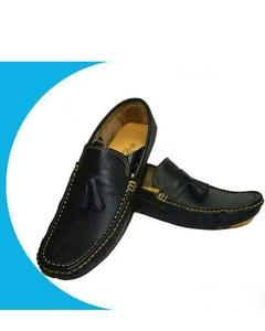 Black Stylish Leather Shoes For Men