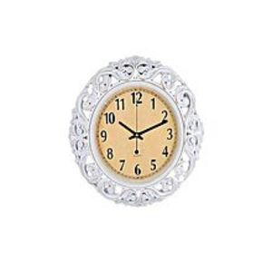 "Clicktobuy Antique Gold Shaded Wall Clock - 17X17"" - White"