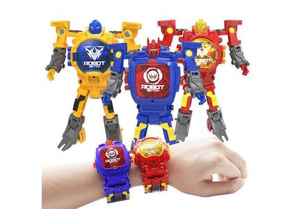 Children Sports Watch Robot Action Figures Transformation Toys Kids Student LED Digital Watch Xmas toy With Battery Children