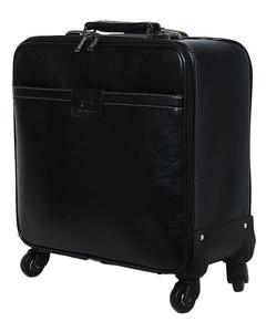 Crew / Laptop Trolley Bag PU Leather - Black